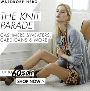 THE KNIT PARADE - CASHMERE SWEATERS, CARDIGANS & MORE UP TO 60% OFF
