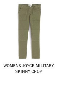 Womens Joyce Military Skinny Crop