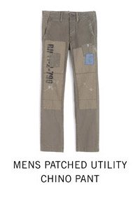 Mens Patched Utility Chino Pant
