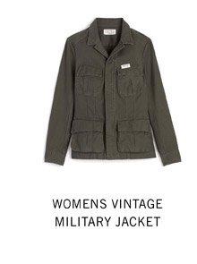 Womens Vintage Military Jacket