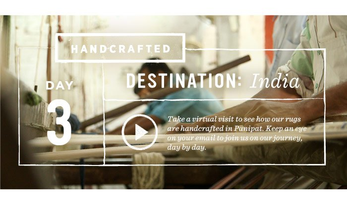 Handcrafted. Day 3. Destination: India