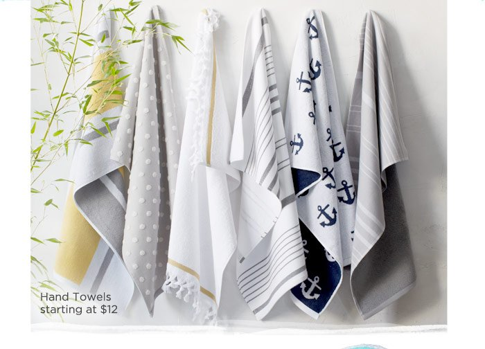 Hand Towels starting at $12