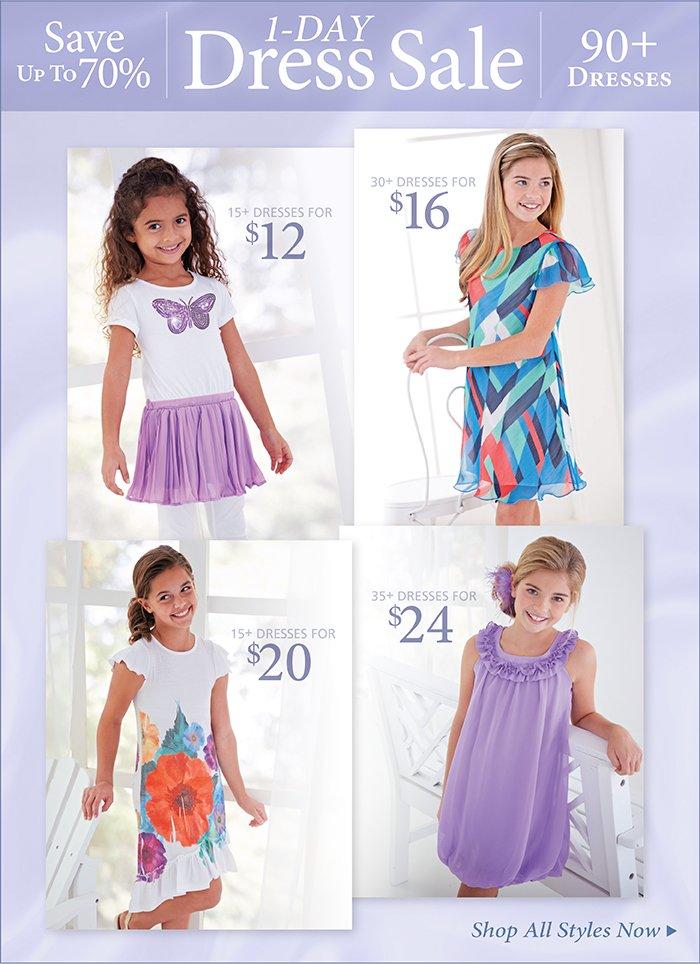 1 Day Dress Sale, Over 90 Dresses!