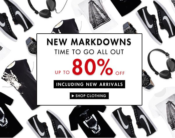 Up to 80% off new clothes!