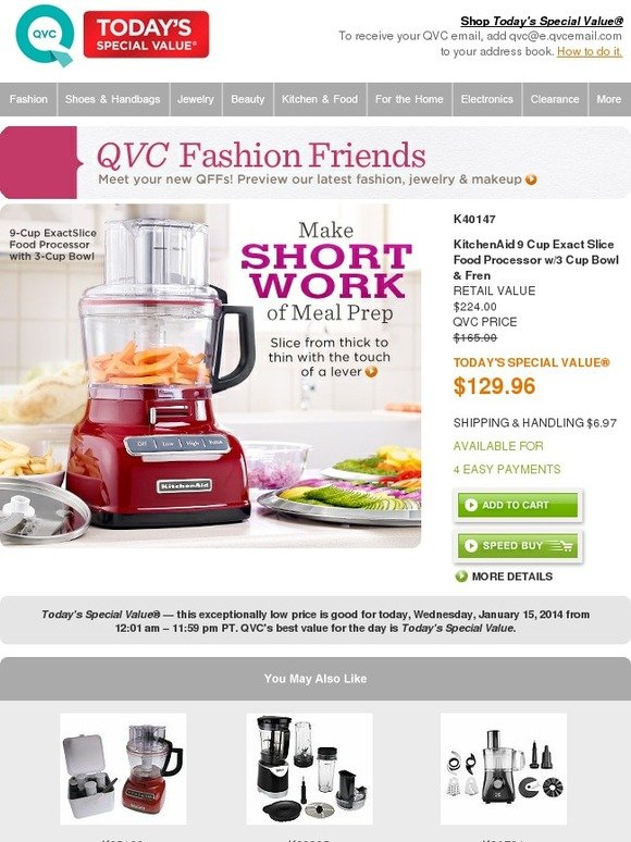 Qvc Qvc S Today S Special Value Wednesday January 15