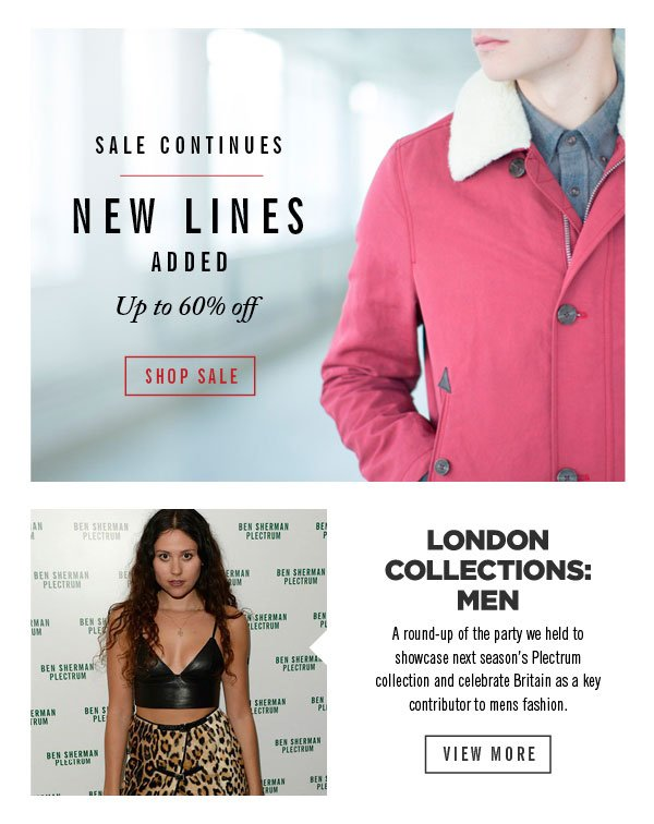 New Lines Added | London Collections: Men