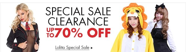 SPECIAL SALE CLEARANCE UP TO 70% OFF Lolita Special Sale▶