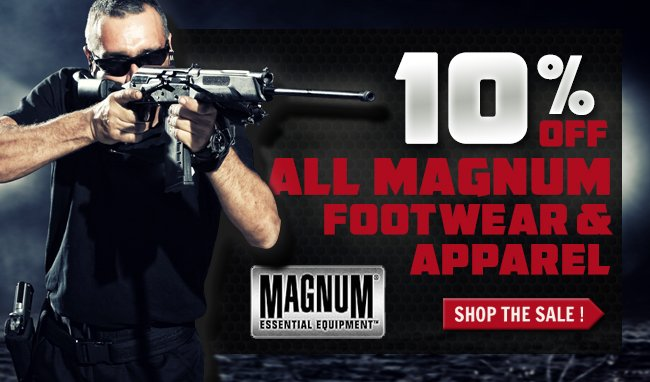 Save 10% On Magnum Boots & Apparel + Get FREE Shipping!