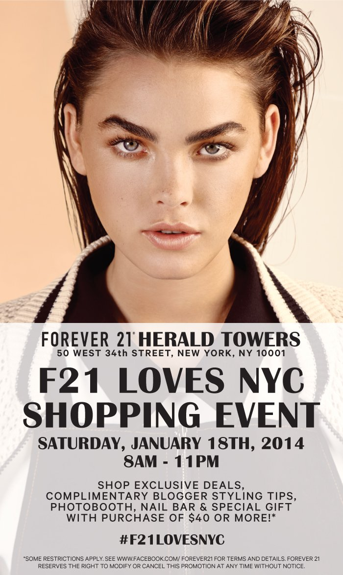 F21 Loves NYC Shopping Event   January 18th 8am   Herald Towers    New York, NY