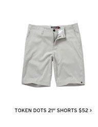 """Token Dots 21"""" Shorts $52"""