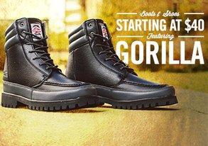 Shop Footwear from $40 ft. Gorilla