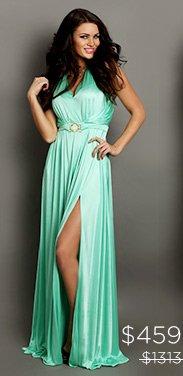 Versace Collection Halter Neck Maxi Dress
