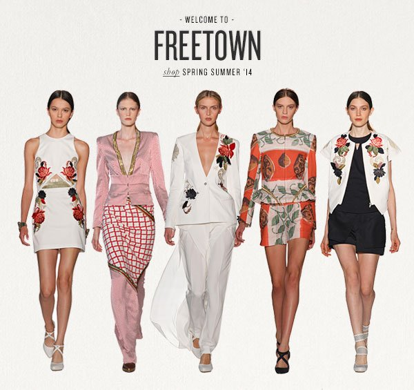WELCOME TO FREETOWN - shop SPRING SUMMER '14