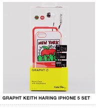 Grapht Keith Haring iPhone Case and Earbuds