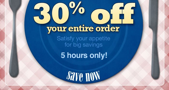 5 hours only! Click here to shop now.
