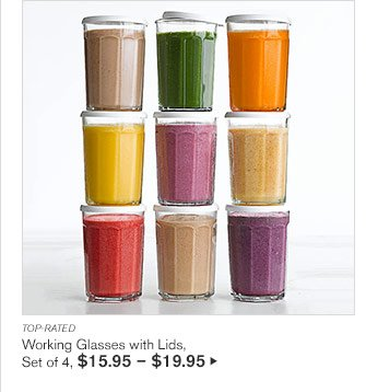 TOP-RATED - Working Glasses with Lids, Set of 4, $15.95 - $19.95
