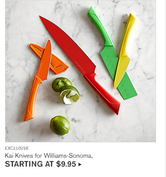 EXCLUSIVE - Kai Knives for Williams-Sonoma, STARTING AT $9.95