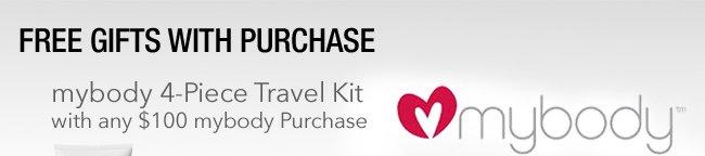 mybody 4-Piece Travel Kit with any $100