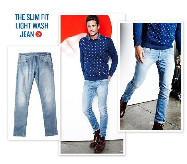 The Slim Fit Light Wash Jean