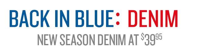Back In Blue: Denim