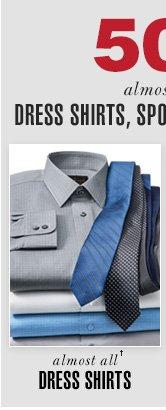 50% OFF Dress Shirts