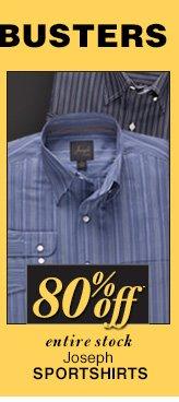 DOORBUSTER Joseph Sportshirts - 80% Off*