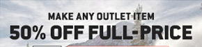 Make Any Outlet Item 50% Off