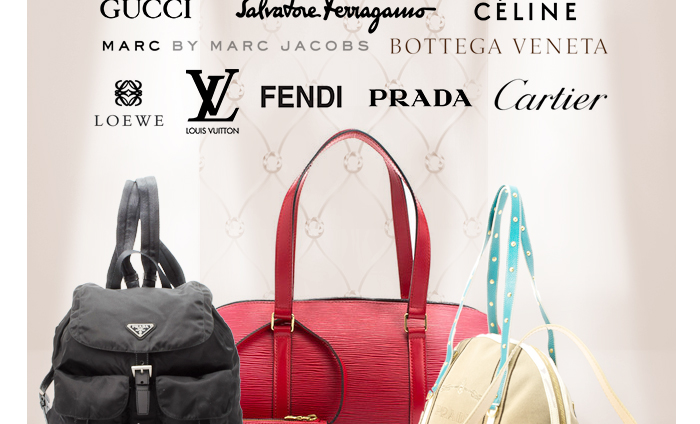 Love a designer find? Score your favorite looks from the top names in fine fashion. Choose from Louis Vuitton, Prada, Gucci, and more!