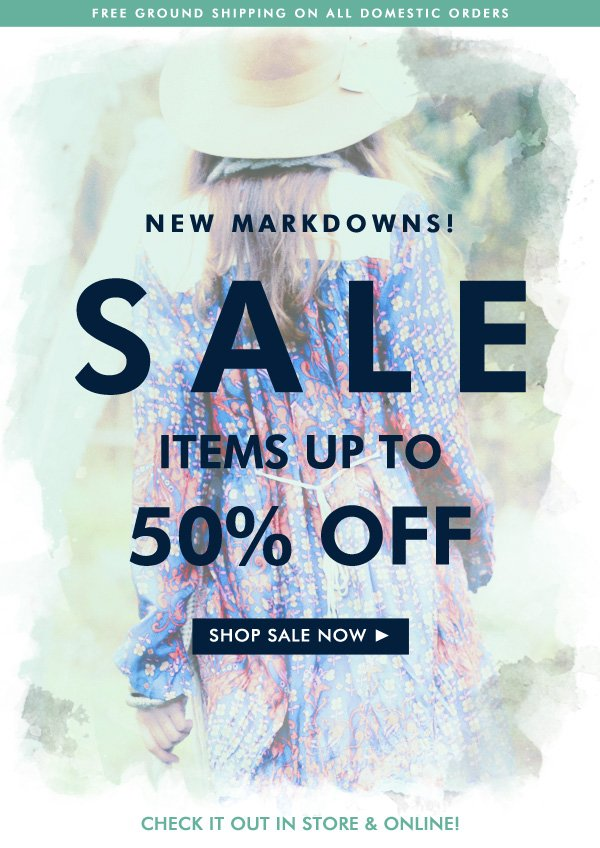 New Markdown! Shop Sale Items Up To 70% OFF
