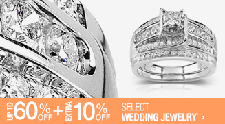 Up to 60% off + Extra 10% off Select Wedding Jewelry**