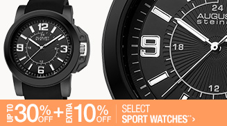 Up to 30% off + Extra 10% off Select Sport Watches**