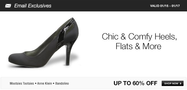 Chic and Comfy Heels, Flats and More