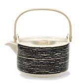 Siirtolaputarha teapot, White/Black