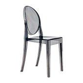 Victoria Ghost Chair,Smokey Grey