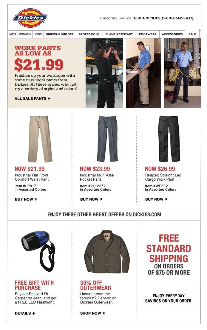 $21.99 & Up - Save on Work Pants