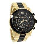Michael Kors MK8265 Men's Runway Chronograph Black Dial Two Tone Steel Watch