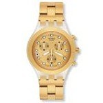 Swatch SVCK4032G Unisex Full-blooded Gold Plated Stainless Steel Chronograph Watch