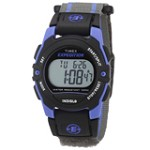 Timex T49660 Unisex Expedition Digital Dial Black Bezel Blue Resin Case Blue & Gray Fast Wrap Velcro Strap Chronograph Alarm Watch