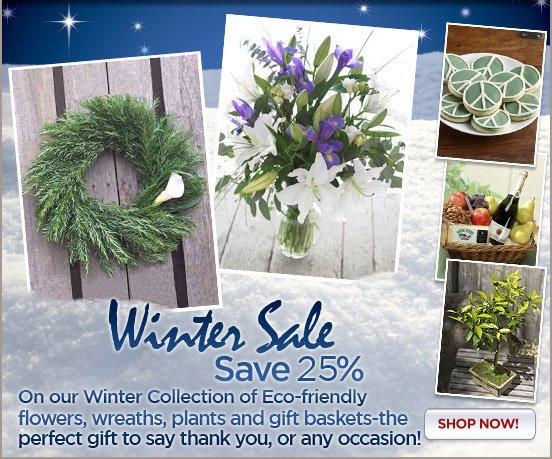 Save 25% on Winter Thank You Gifts!