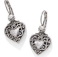 Reno Heart Leverback Earrings