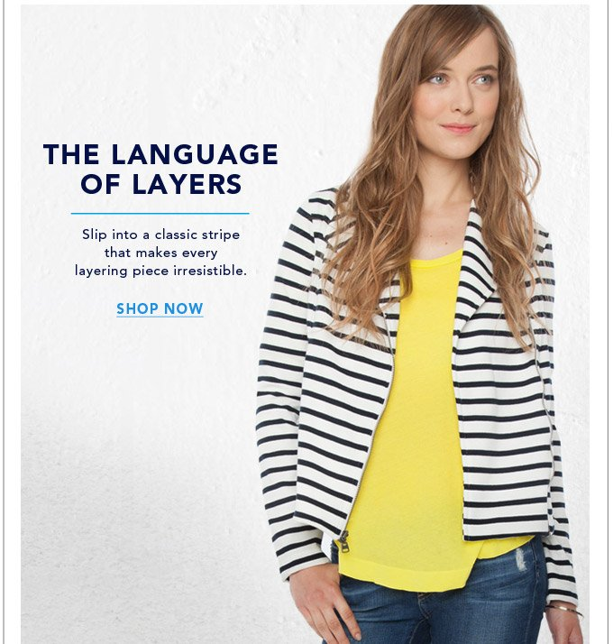 The Language of Layers - Shop Now