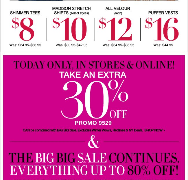 Today Only, Take an Extra 30% Off!