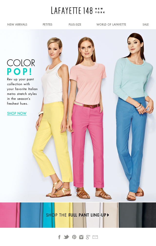 Color POP! Metro Stretch Pants
