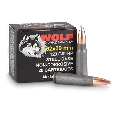Wolf® 7.62x39mm 123 Grain HP Ammo