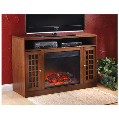 CastleCreek™ Mission-style Media Stand Fireplace Heater