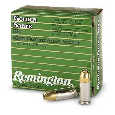 Remington® Golden Saber™ .45ACP+p 185 Grain HPJ 25 rounds
