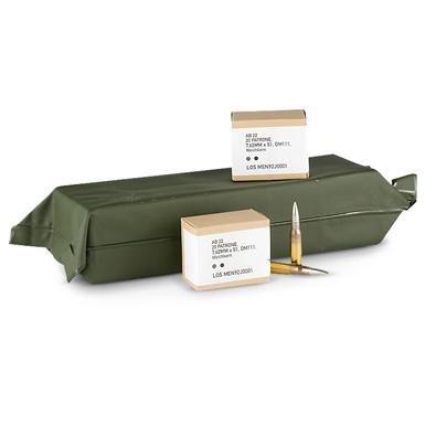 200 rds. German Military Surplus .308-cal. 146 Grain FMJ Ammo