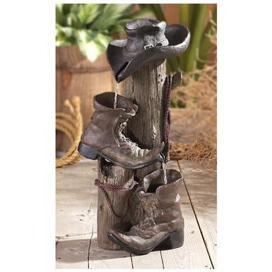 CastleCreek™ Handcrafted Cowboy Fountain