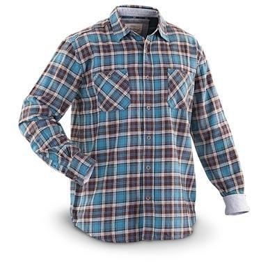 Weatherproof® Vintage Long-sleeved Flannel Shirt with Fleece Trim