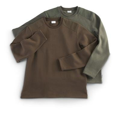 2 River Trail Long-sleeved Military-style Crew-neck Shirts